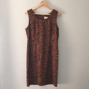 Vintage Leopard Print Shift Dress